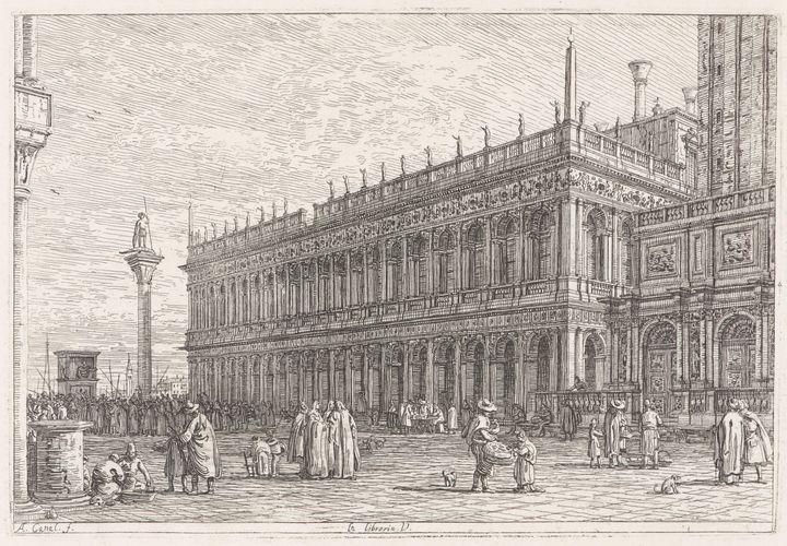 Canaletto~La Libreria V de Venise - Old master image