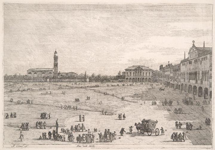 Canaletto~Padua, Prà Della Valle (Pr - Old master image