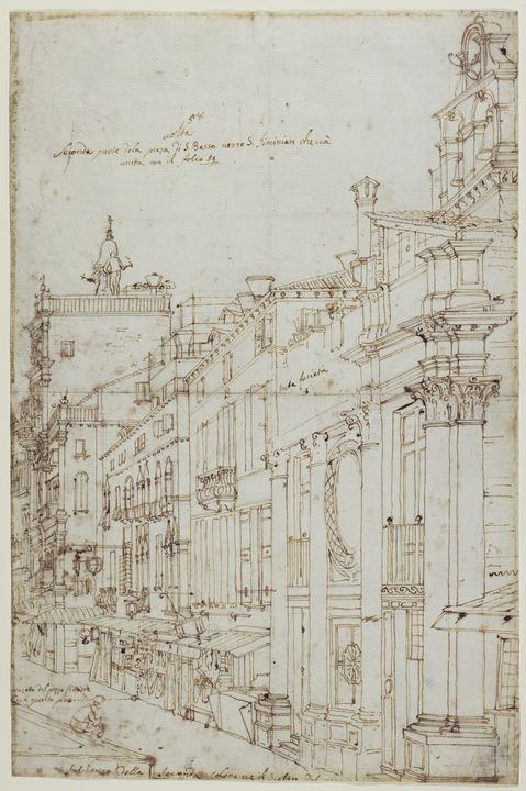 Canaletto~The Campo S. Basso The Nor - Old master image
