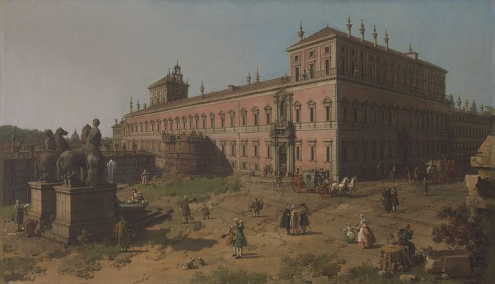 Canaletto~View of the Palazzo del Qu - Old master image