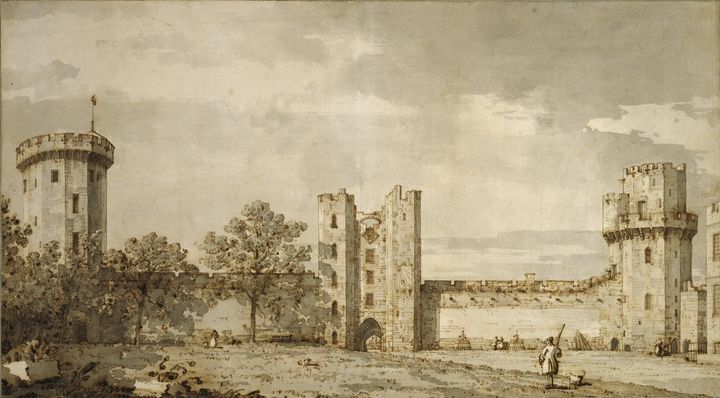 Canaletto~Warwick Castle The East Fr - Old master image