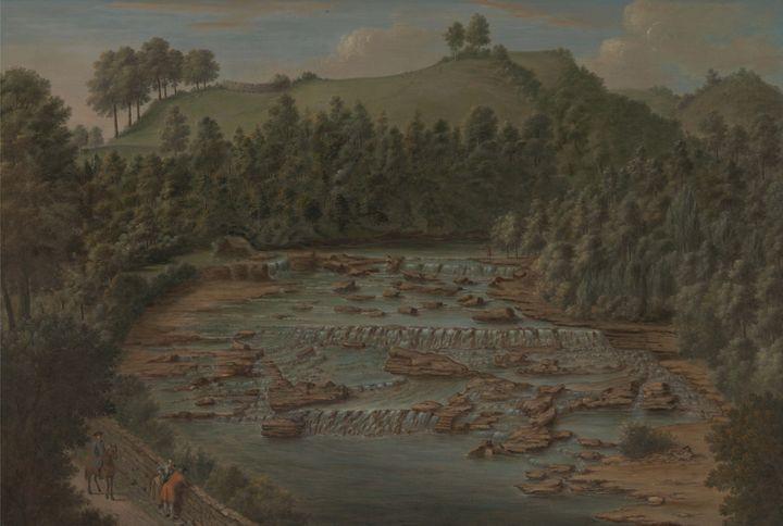 Balthazar Nebot~Aysgarth Falls, York - Old master image
