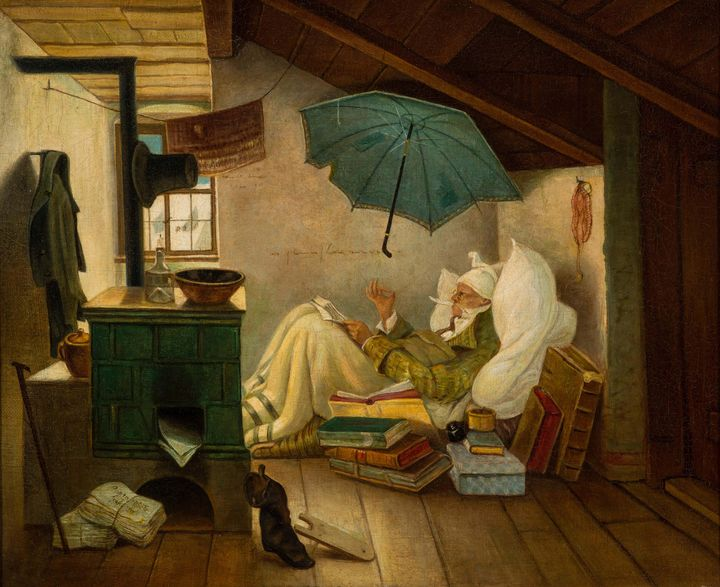 Carl Spitzweg~The Poor Poet - Old master image
