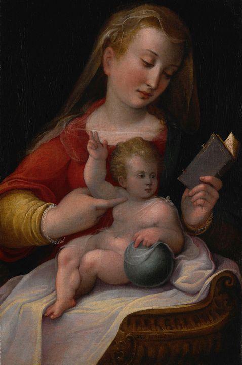Barbara Longhi~Madonna and Child - Old master image