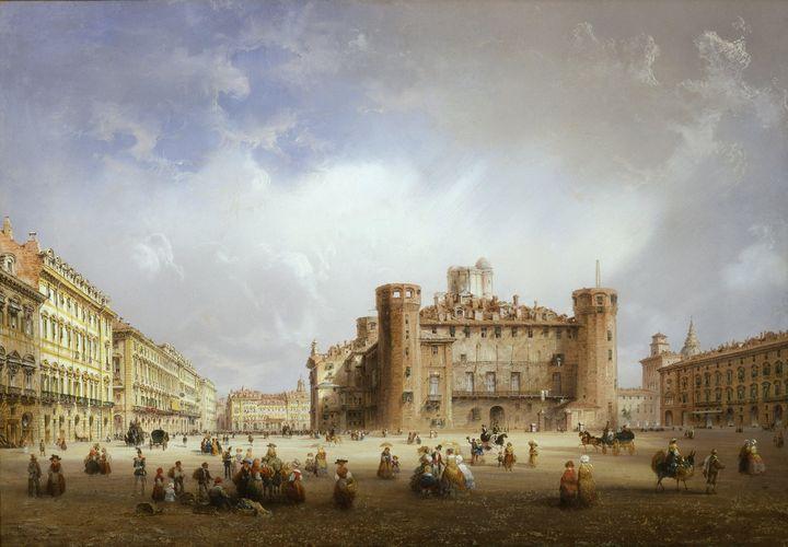 Carlo Bossoli~Piazza Castello - Old master image