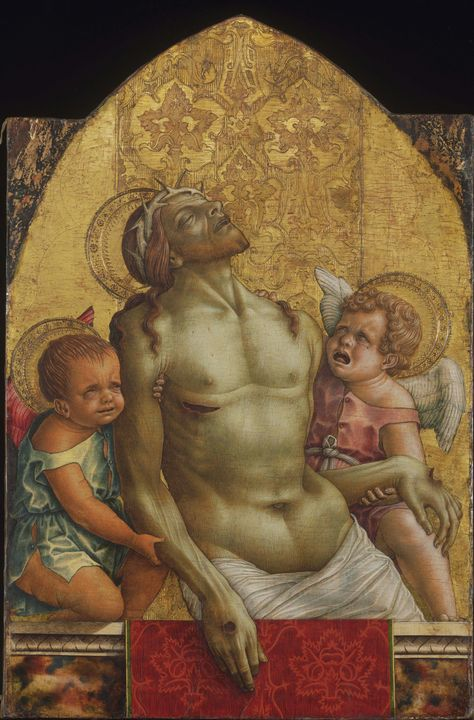 Carlo Crivelli~Dead Christ Supported - Old master image