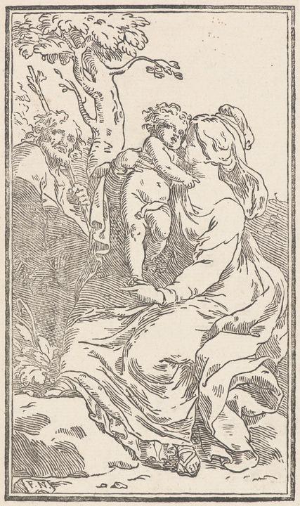 Carlo Francesco Nuvolone~The Holy Fa - Old master image