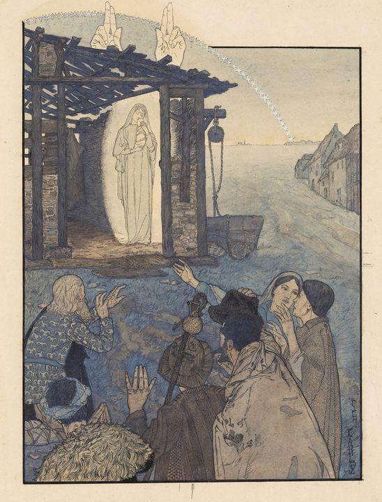 Carlos Schwabe~Natividade, canto da - Old master image