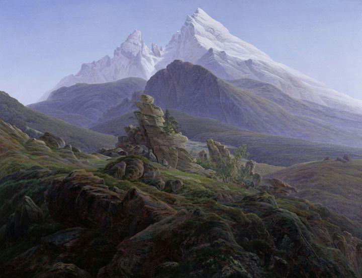 Caspar David Friedrich~The Watzmann - Old master image