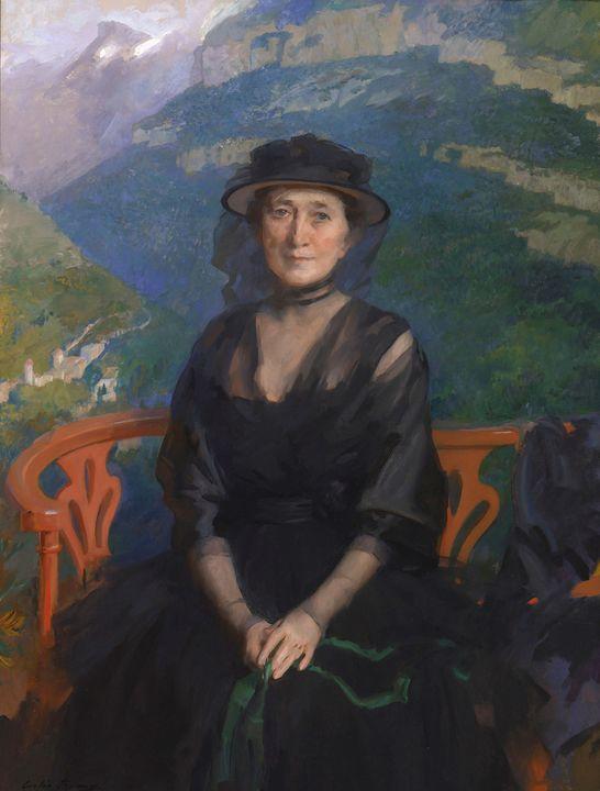 Cecilia Beaux~Portrait of Mrs. Addis - Old master image