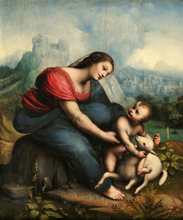 Cesare da Sesto~The Virgin and Child - Old master image
