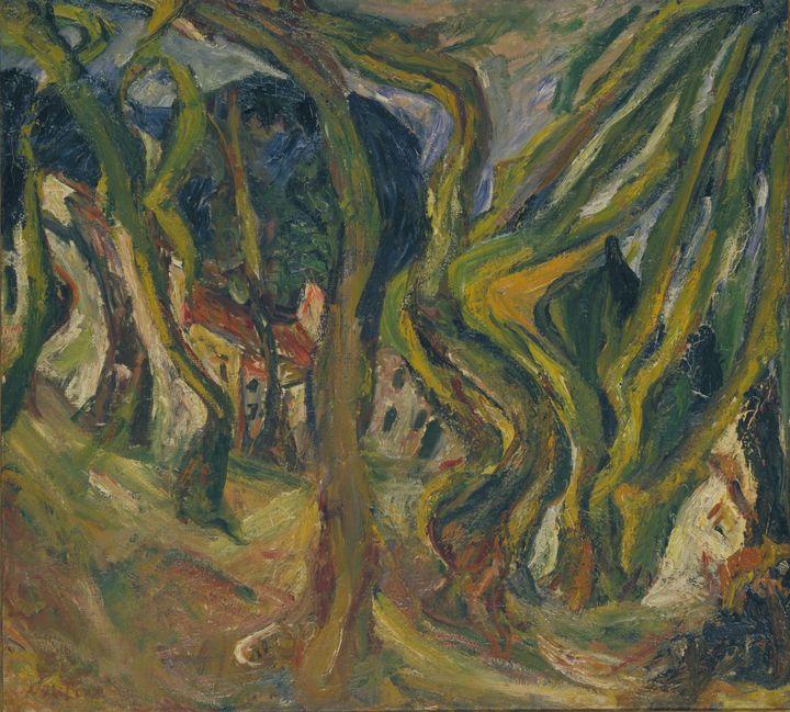 Chaim Soutine~Landscape in Cret [Pay - Old master image
