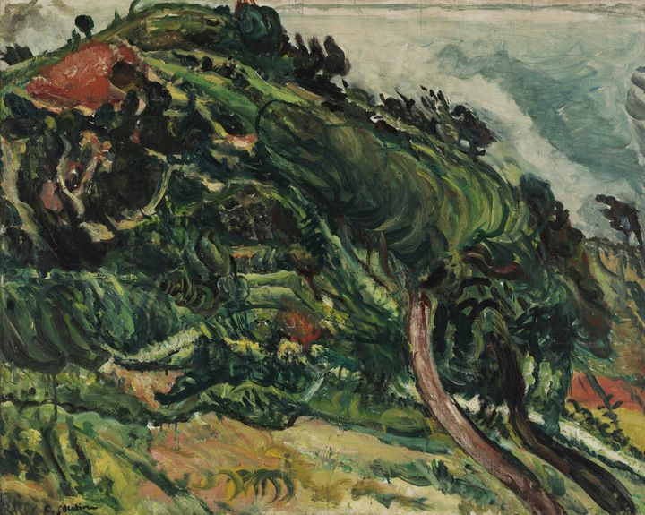 Chaim Soutine~Landscape with trees i - Old master image