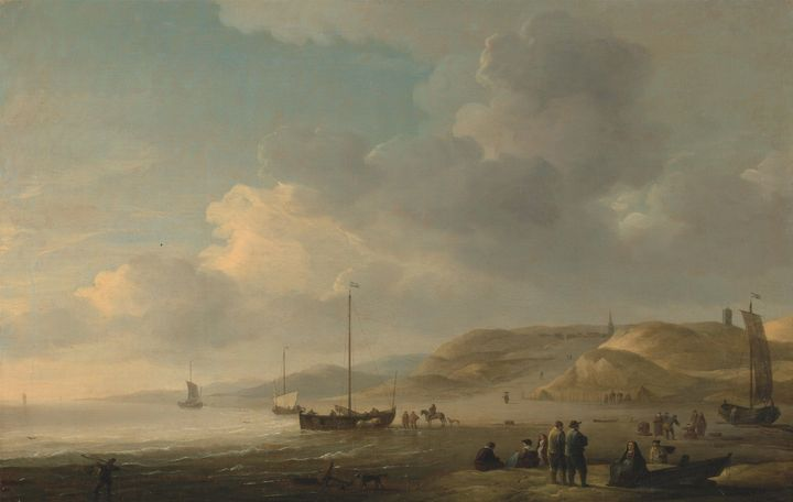 Charles Brooking~The Coast Near Sche - Old master image