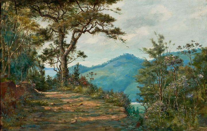 Benedito Calixto~Landscape (Forest S - Old master image