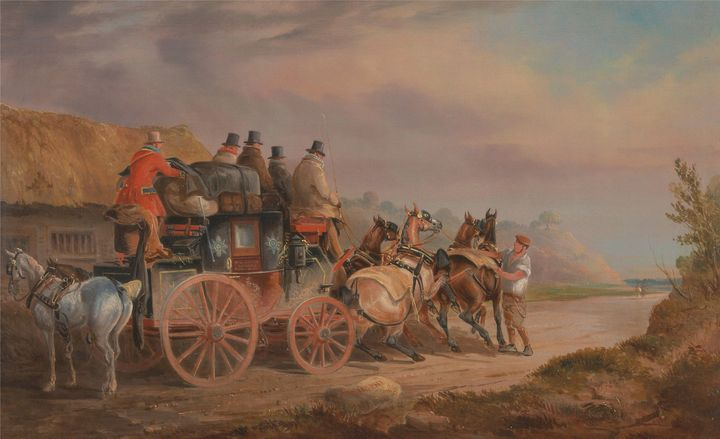 Charles Cooper Henderson~Mail Coache - Old master image