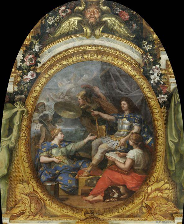 Charles Le Brun~Order Restored in th - Old master image