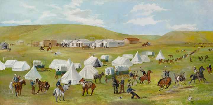 Charles Marion Russell~Cowboy Camp D - Old master image