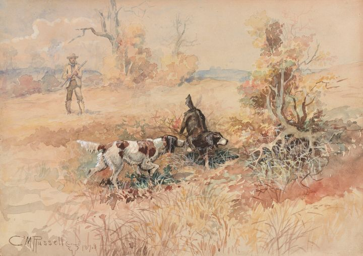 Charles Marion Russell~Huntsman and - Old master image