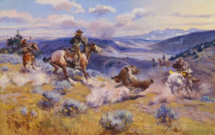 Charles Marion Russell~Loops and Swi - Old master image
