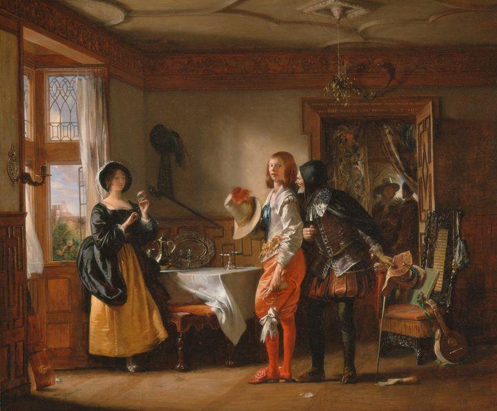 Charles Robert Leslie~Slender, with - Old master image