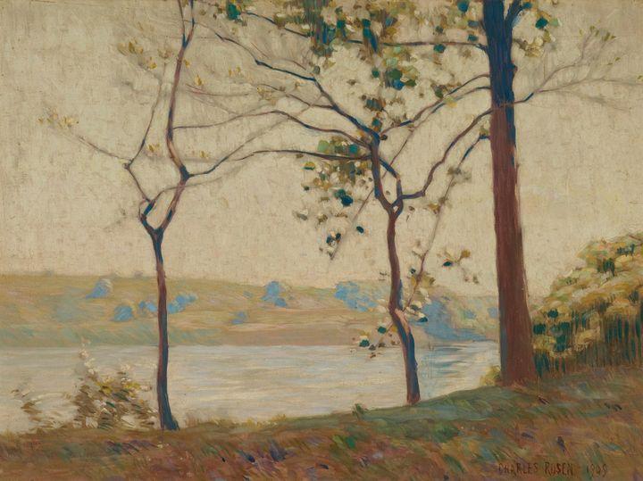 Charles Rosen~Across the River - Old master image
