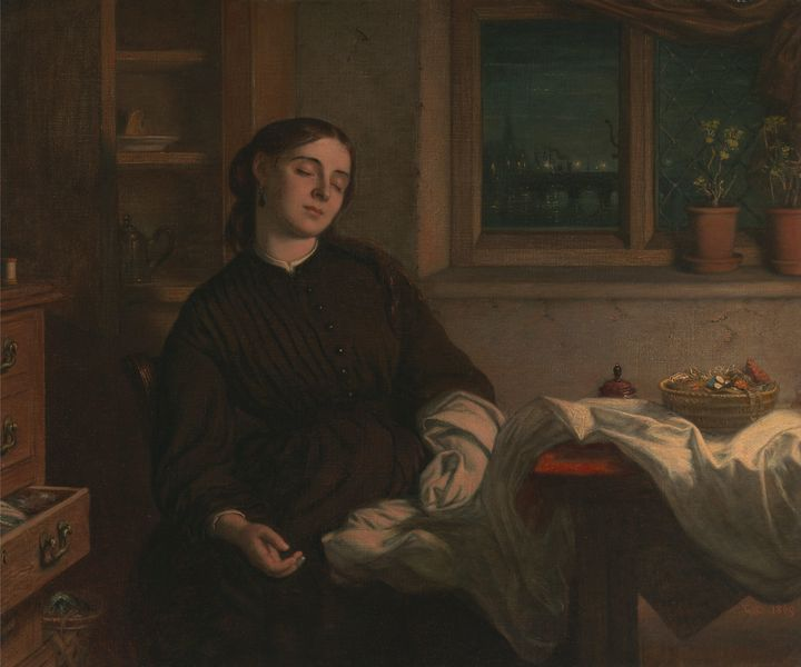 Charles West Cope~Home Dreams - Old master image