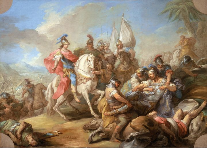 Charles-André van Loo~The Victory of - Old master image
