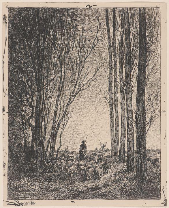 Charles-François Daubigny~La Rentrée - Old master image