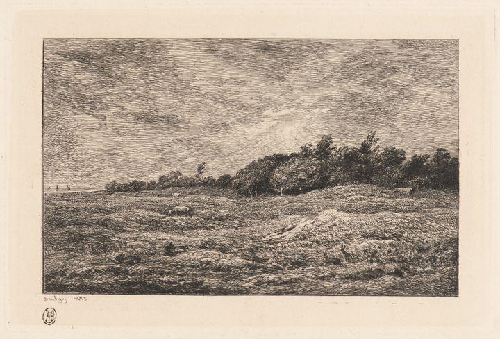Charles-François Daubigny~Le Pré des - Old master image