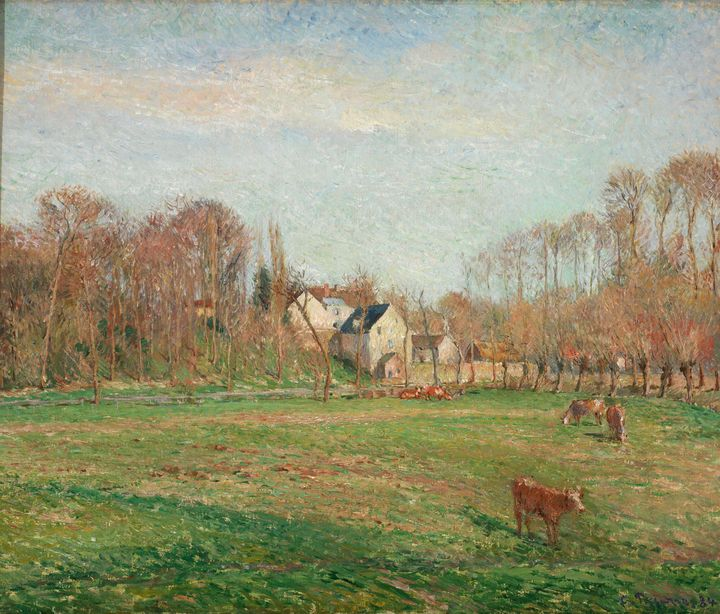 Camille Pissarro~Field and Mill at O - Old master image
