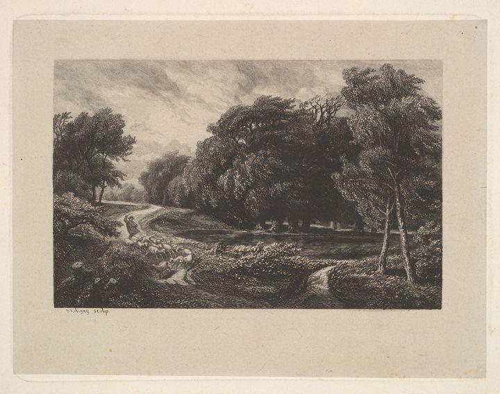 Charles-François Daubigny~The Approa - Old master image