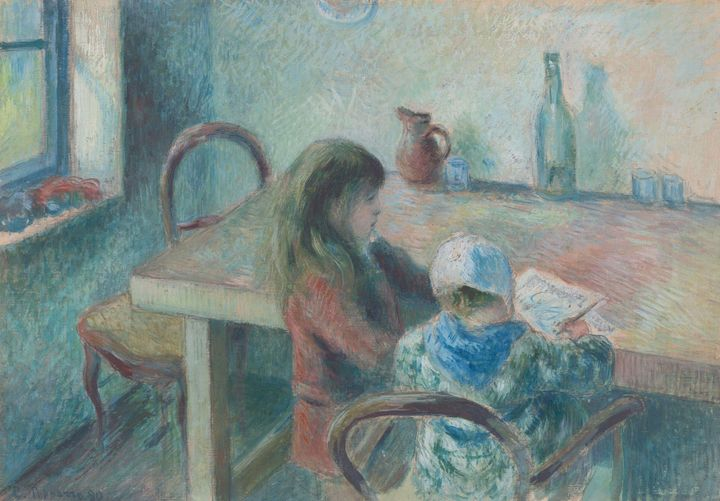 Camille Pissarro~The Children - Old master image