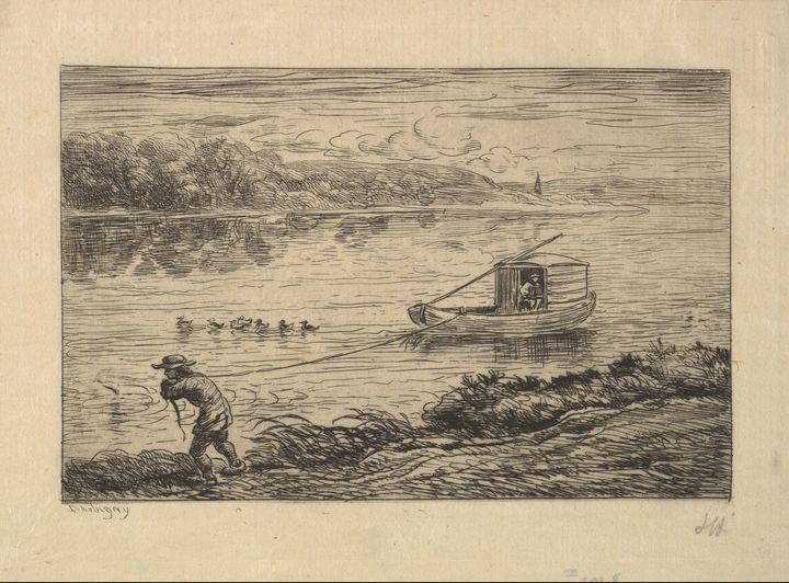 Charles-François Daubigny~The Cabin - Old master image