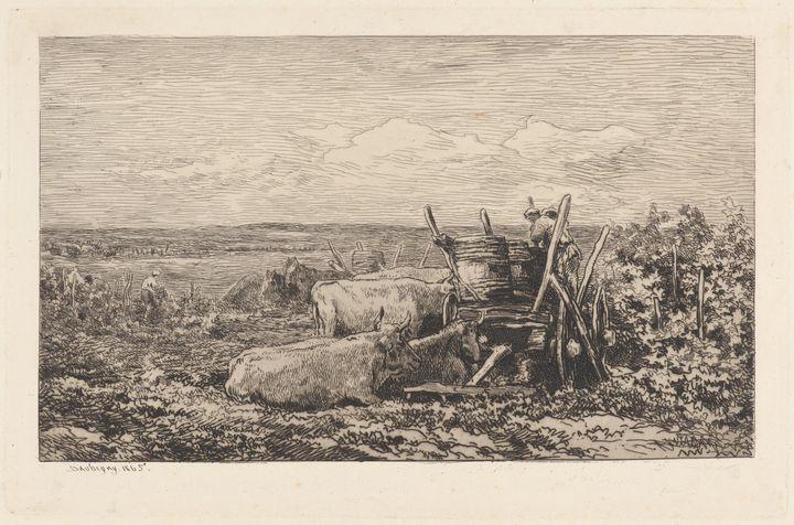 Charles-François Daubigny~The Grape - Old master image
