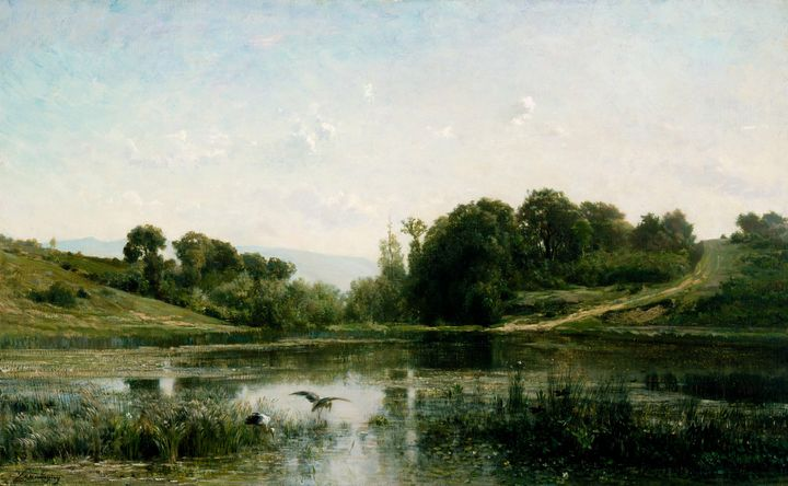 Charles-François Daubigny~The Ponds - Old master image