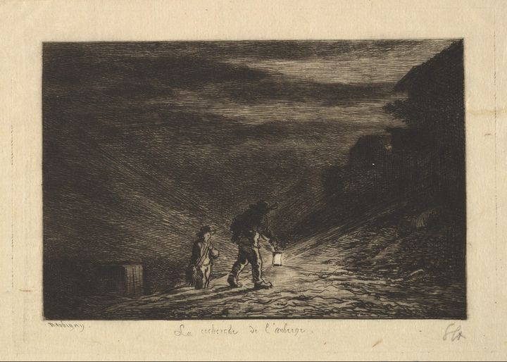 Charles-François Daubigny~The Search - Old master image