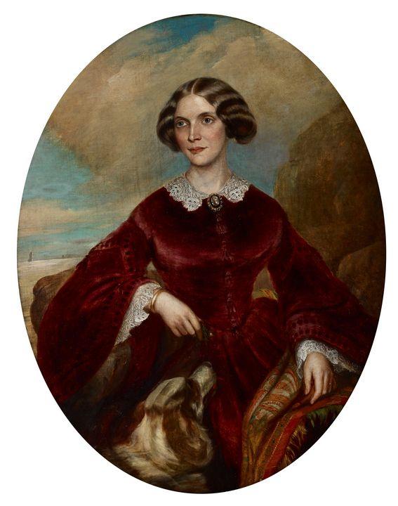 Chester Harding~Portrait of Anna Har - Old master image