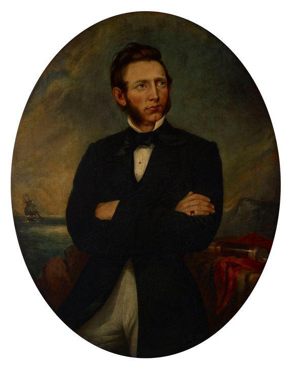 Chester Harding~Portrait of Capt. Ch - Old master image