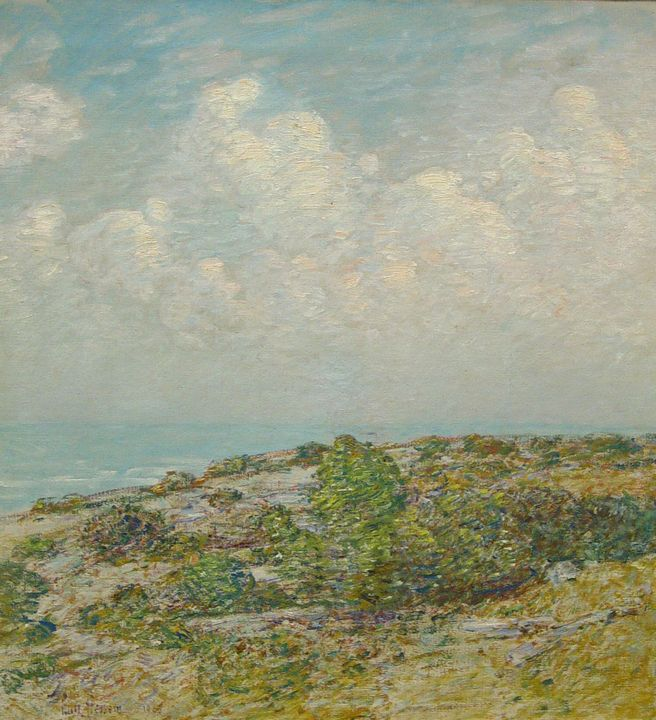 Childe Hassam~Beach at East Hampton - Old master image