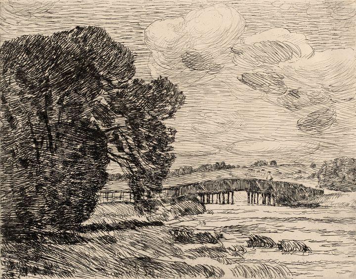 Childe Hassam~Bridge at Old Lyme - Old master image