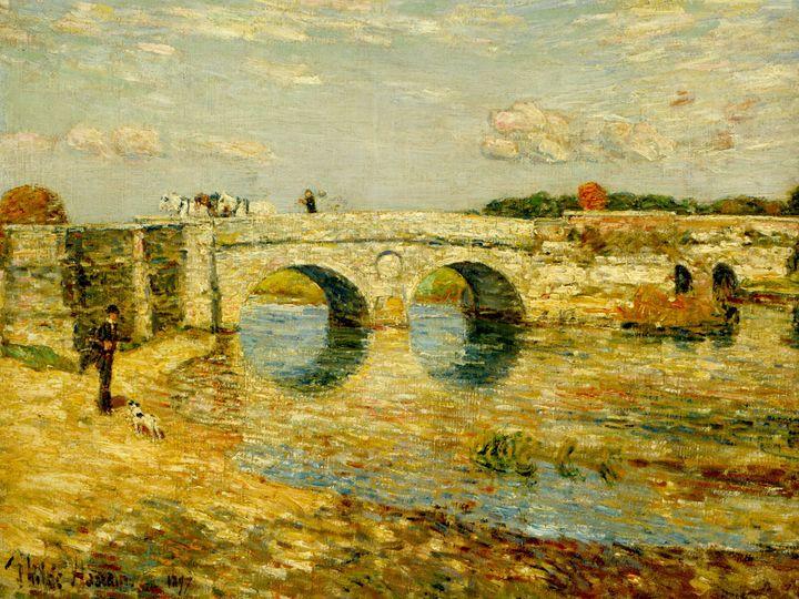 Childe Hassam~Bridge over the Stour - Old master image