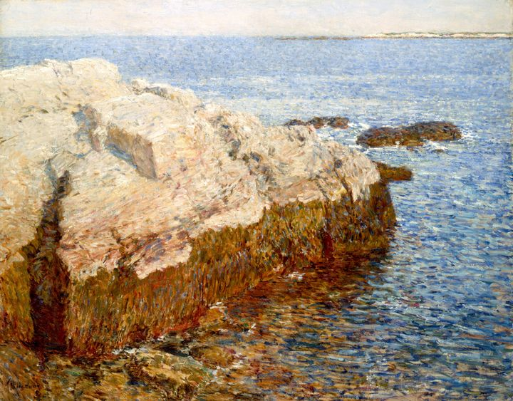 Childe Hassam~Cliff Rock - Appledore - Old master image