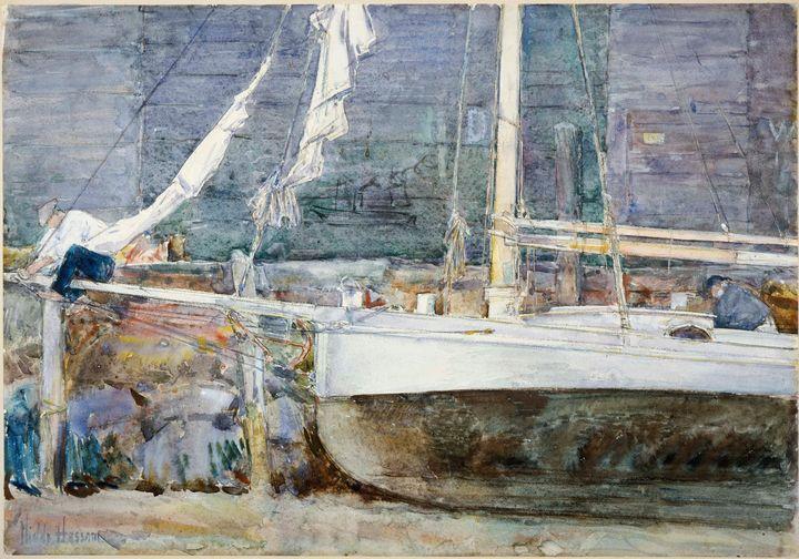 Childe Hassam~Drydock, Gloucester - Old master image