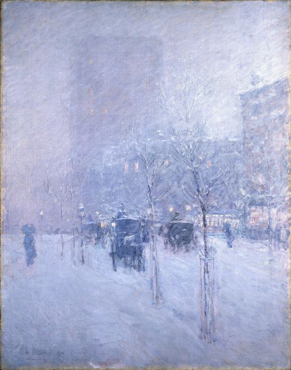 Childe Hassam~Late Afternoon, New Yo - Old master image