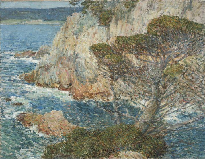 Childe Hassam~Point Lobos, Carmel - Old master image