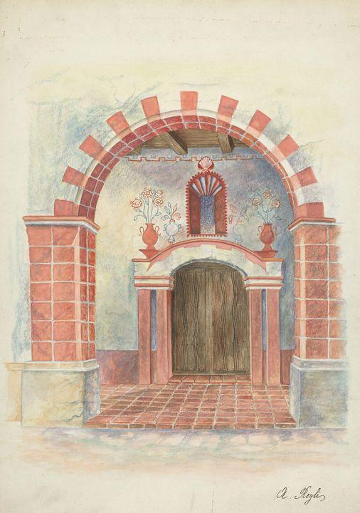 A. Regli~Restoration Drawing - Old master image