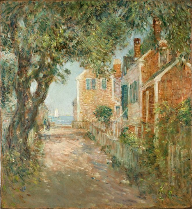 Childe Hassam~Street in Provincetown - Old master image