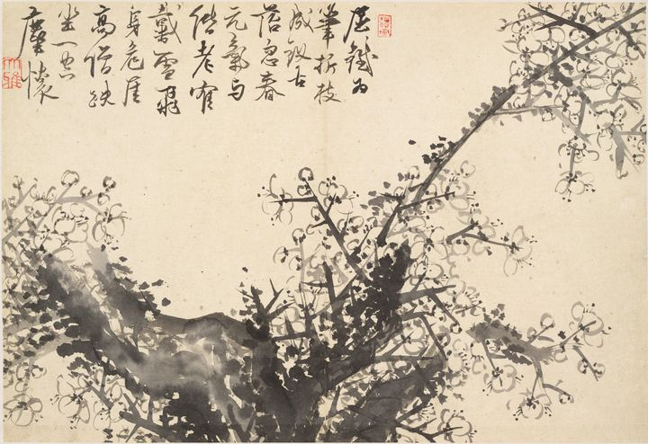 Cho Hûi-ryong~Old Weathered Plum Tre - Old master image