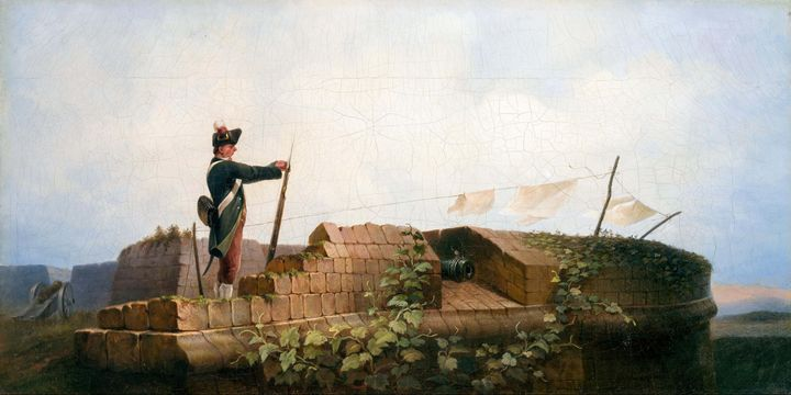 Carl Spitzweg~On the BastionPeaceYaw - Old master image